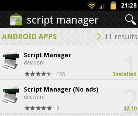 Script Manager App