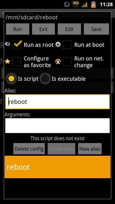 Script Manager - Script Config