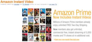 Amazon Instant Video Prime