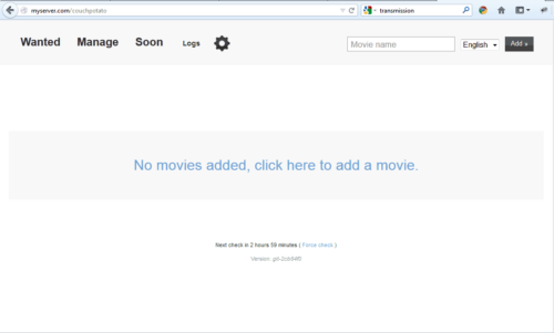 CouchPotato Web Interface