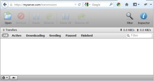 Transmission Web Interface