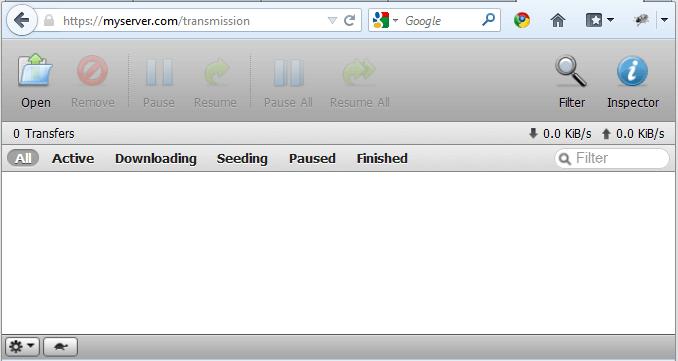 transmission web interface permission denied