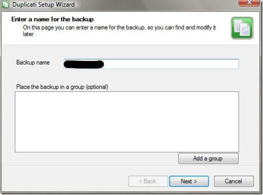 Backup Name