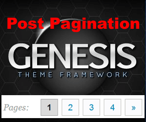 Add and style post pagination in Genesis Themes with WP-PageNavi