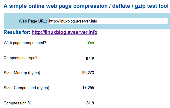 Linux and Stuffs - Gzip Compression