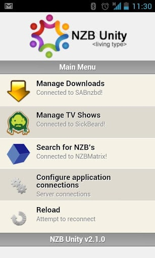 NZBUnity - Screenshot 1