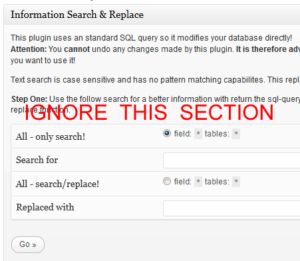 Search and Replace - Ignore Top Section
