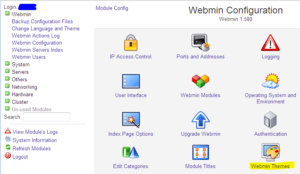 Webmin Configuration - Themes 1