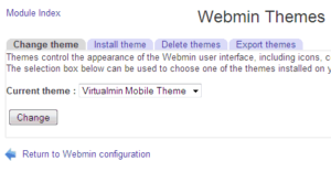 Webmin Configuration - Themes 2