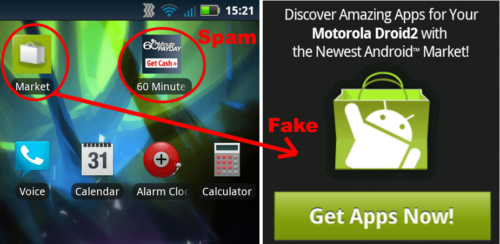 Desktop or Homescreen Ads
