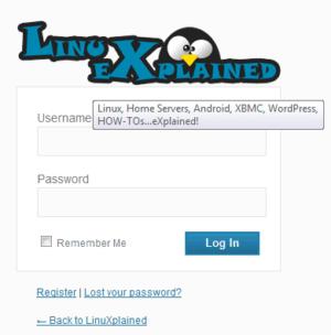 LinuXplained Login Logo