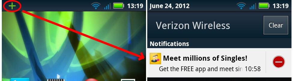 Stop homescreen and notification bar ads on android devices