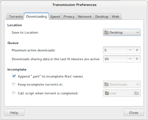 Transmission Download Folders Settings