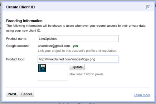 Client ID Branding Information