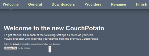 Configure CouchPotato