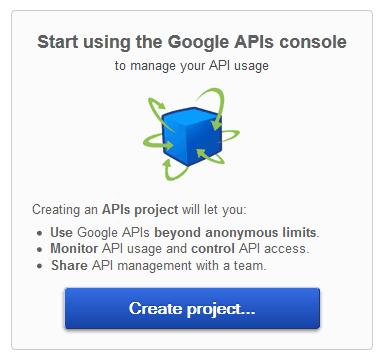 Google APIs - Create Project