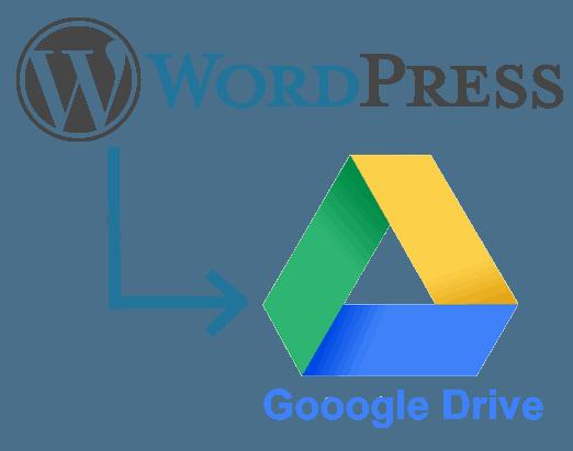WordPress to Google Drive
