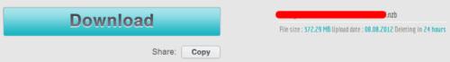 Download Zip File from UsenetStorm