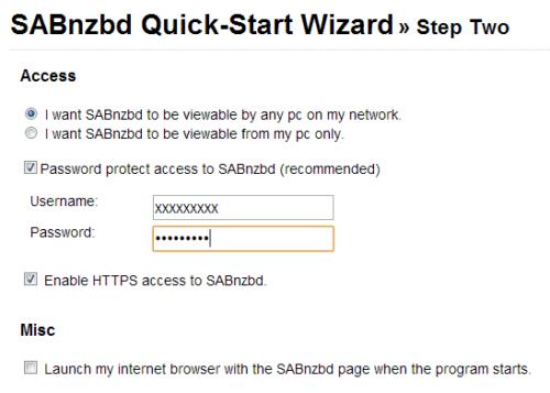 Configure SABnzbd