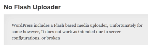 No Flash Uploader Plugin