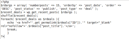 Code To Add One Recent Random Post