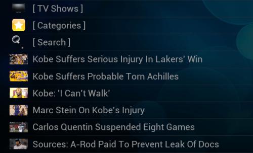 ESPN Videos Listing