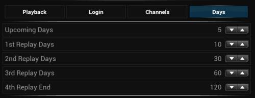 ESPN Plugin Replay Settings