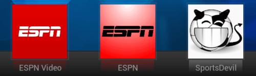 Watch ESPN Online on XBMC