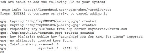 Add XBMC Repository