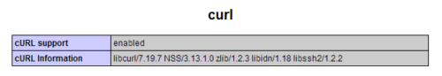 cURL Support Check
