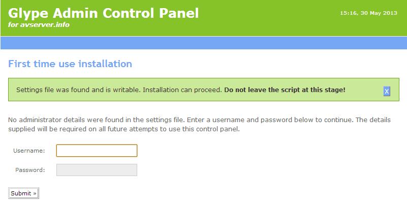How to reset Glype admin password?