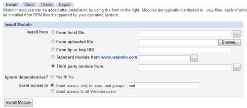 Install Additional Webmin Modules