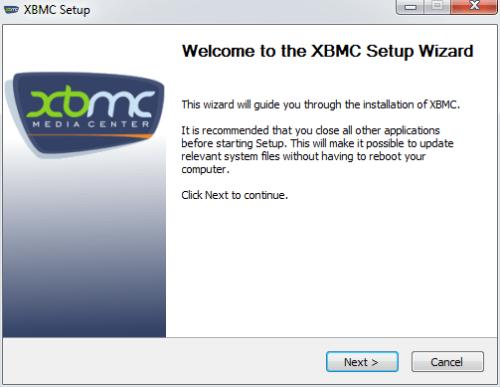 XBMC Setup Wizard