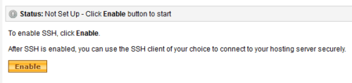 Enable SSH on GoDaddy