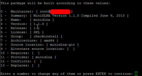Check Install Build Package Parameters