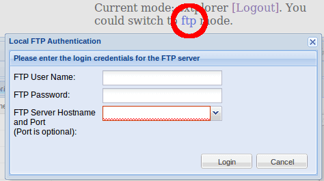 eXtplorer FTP Mode