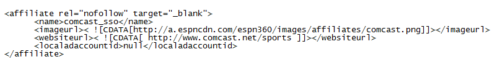 ESPN Addon Userdata for Comcast
