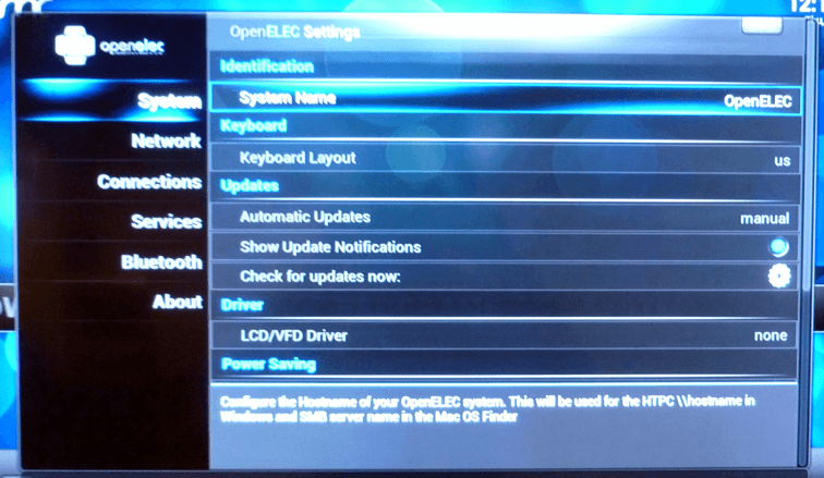 OpenELEC Update Options
