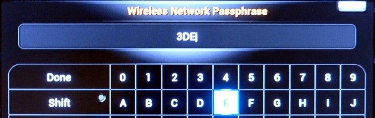 OpenELEC Wireless Passphrase