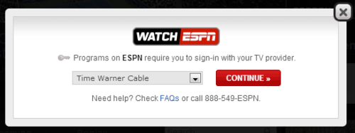WatchESPN Login