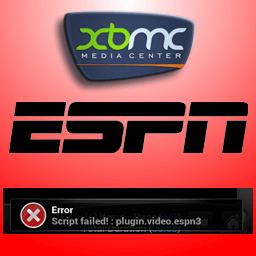 How to fix script failed error and make XBMC ESPN addon work?