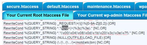 BulletProof Security htaccess File Editor