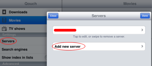 Add Download Server on Qouch