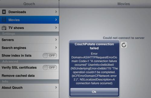 CouchPotato configuration Error