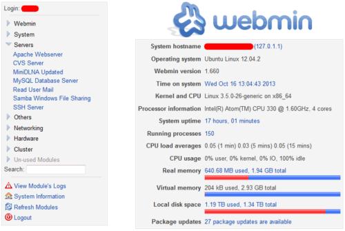Webmin 1.710