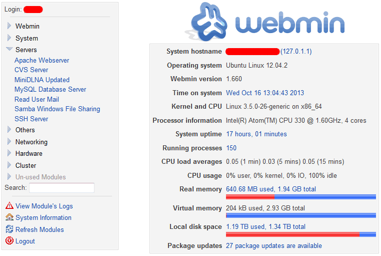 Webmin 1 760 Released: Installation and Upgrade