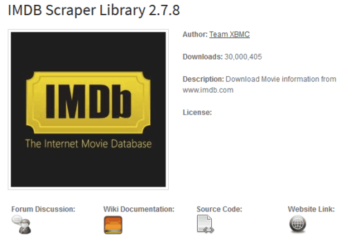 XBMC Addons Website - Example