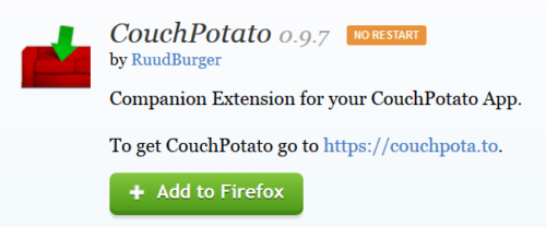 CouchPotato Firefox Plugin