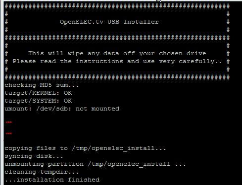 Install OpenELEC on Raspberry Pi