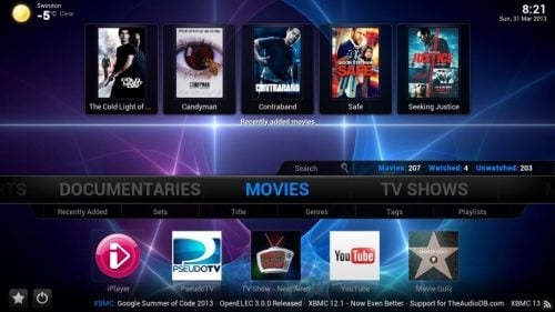 Confluence Customizable Mod Skin for XBMC